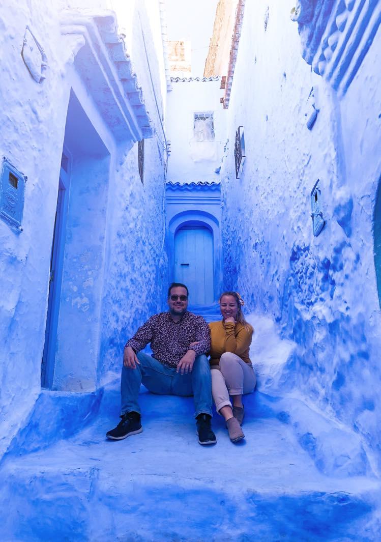 Photo de couple à Chefchaouen - Nomade Amoueux