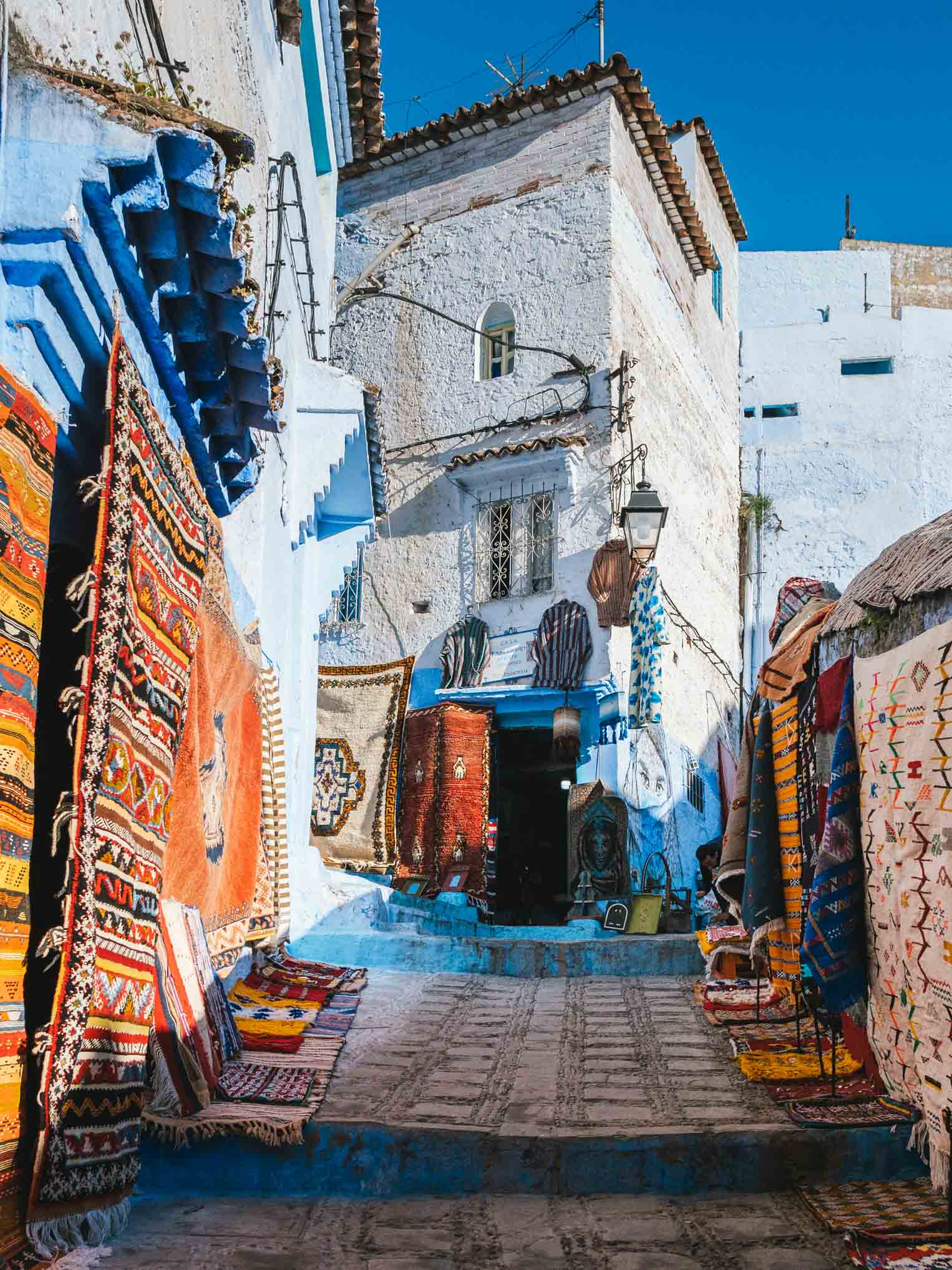 Tapis medina bleue - Nomade Amaoureux